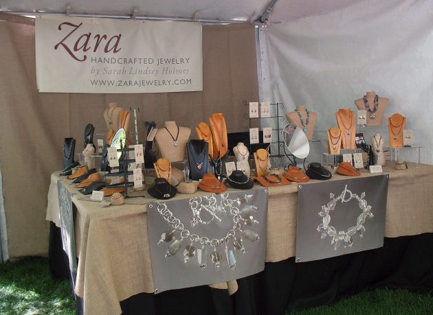 Sarah Lindsey Holmes:Zara Handcrafted Jewelry:Booth